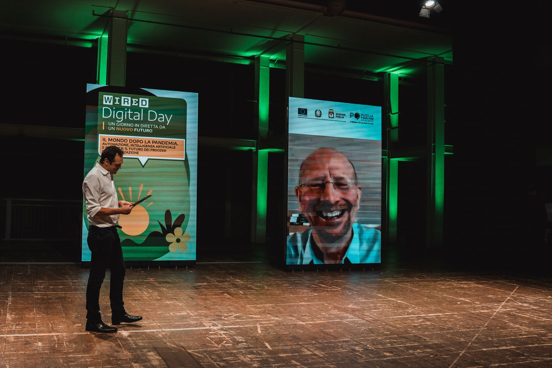 """Wired Digital Day 2021. Dal palcoscenico di Brindisi le sfide del """"nuovo futuro"""". Emiliano, Delli Noci, Maraschio: """"La via della rivoluzione green passa dalla Puglia"""""""