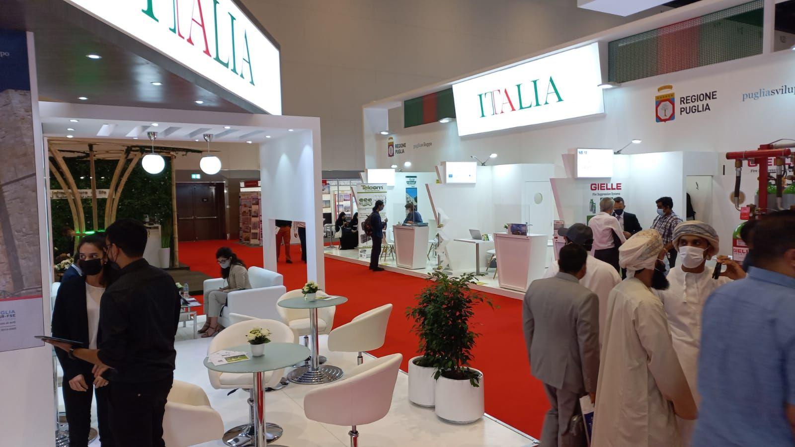 """Verso Expo Dubai. La Puglia della green economy a Wetex 2021. Delli Noci: """"Mercato strategico per la Puglia. Nel 2021 esportazioni pugliesi in crescita del 16% in Medio Oriente e Nord Africa"""""""
